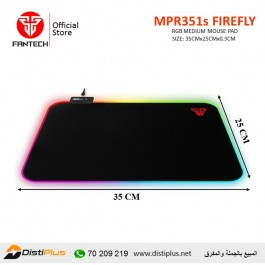 Fantech MPR351s FIREFLY Medium RGB Gaming Mouse Pad